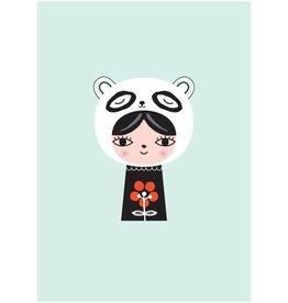 Petit Monkey Postkaart Miss Panda