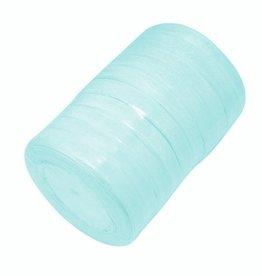 Rol organzalint lichtblauw 6 mm