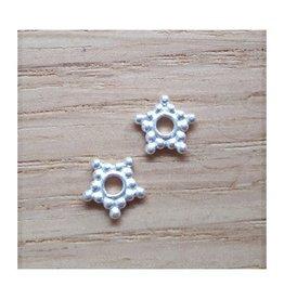 Tussenkraal ster sterling zilver 6 mm (1x)
