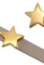 DQ metaal schuiver goud ster 10 mm(1x)