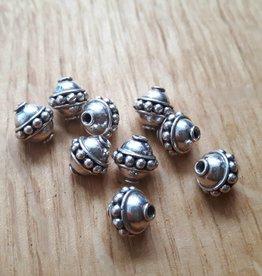 Kraal Sterling zilver bewerkt ca 8 mm (1x)