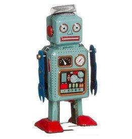 Mechato Vintage robot met spiraalhaar