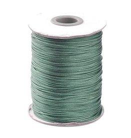 Waxkoord polyester leisteengrijs/groen 1 mm (5m)