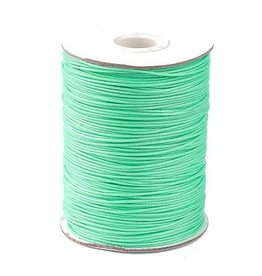 Waxkoord polyester mint 1 mm (5m)