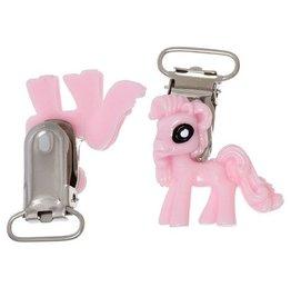 Speenkoordclip met roze paardje (1x)