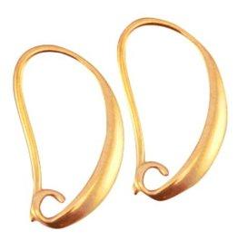 DQ metalen oorbelhaak goudkleurig (p.p)