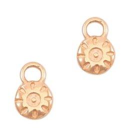Bedel DQ mini zon /muntje rose goud (2x)