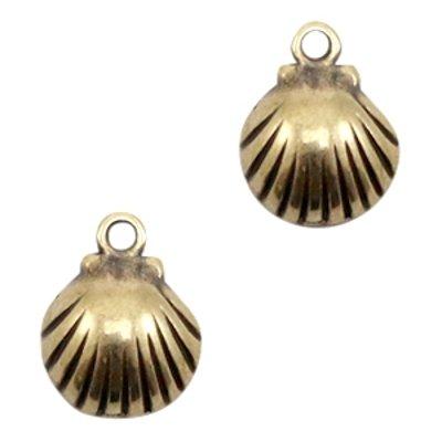 Bedel DQ mini schelpje antiek brons (1x)