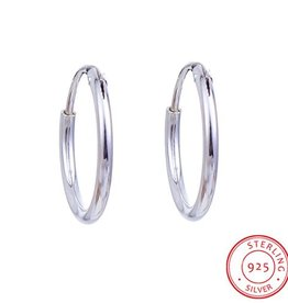Creolen Sterling zilver 12 mm (p.p)