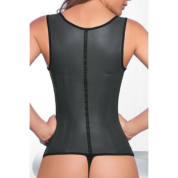 Daily Full Vest Latex Zwart 2 hooks - lang model
