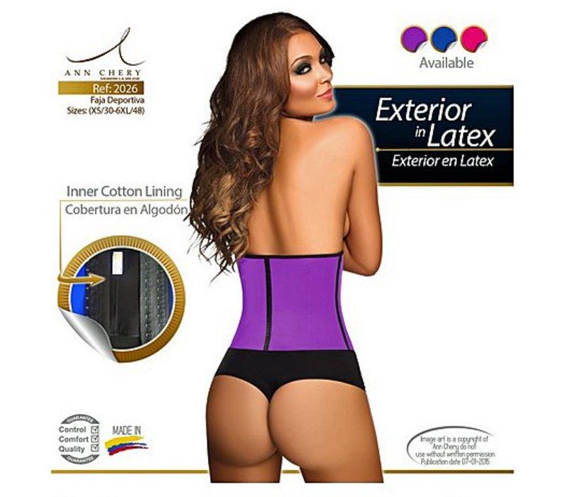 Waist Trainer Sport 2 Hooks Short Torso Pink / Blue / Purple