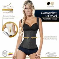 Waist Trainer Full Vest Latex Black 2 Hooks