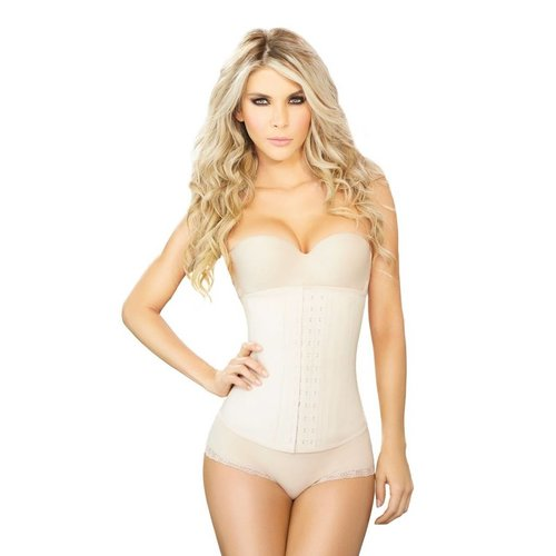Ann Chery Latex Waist Cincher 3 hooks beige - long model