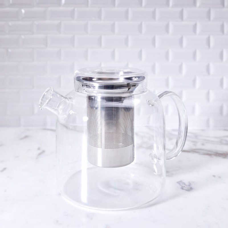Glass teapot with strainer - Assam