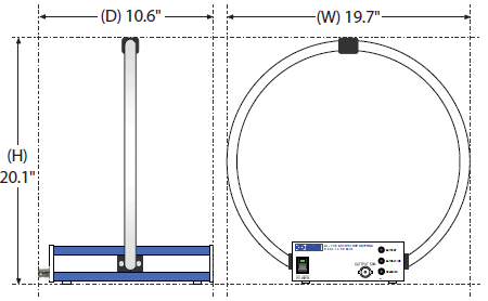 Technical Drawing of Active Loop Antenna