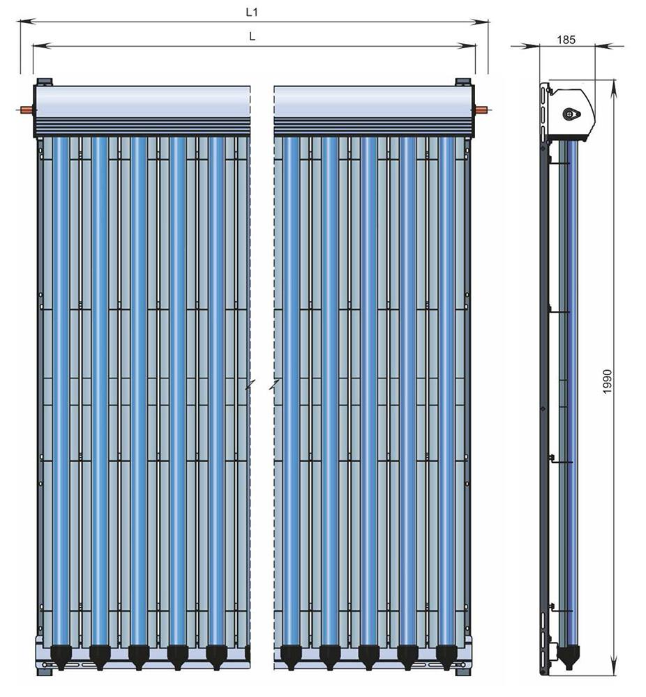 zonnecollector vacuumbuizen