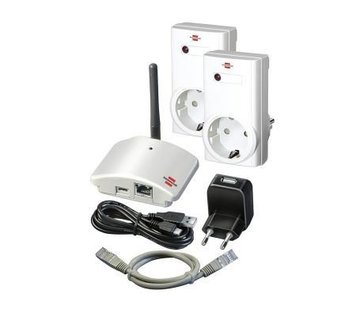 Brennenstuhl Home automation basisstation inclusief bedienbare stopcontacten