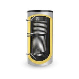 ELDOM Green Line Buffervat 750 liter, 2 warmtewisselaars, niet geëmailleerd