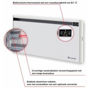 ELDOM Extra Life Eldom Extra Life 1 kW elektrische wandconvector met digitale bediening en thermostaat