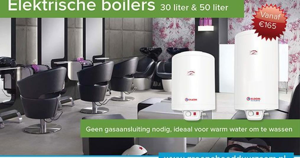 Elektrische boiler voor in de kapsalon