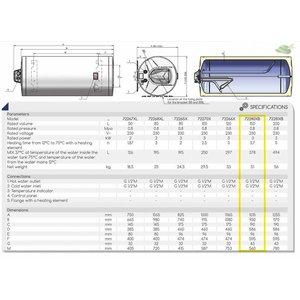 ELDOM Favourite Elektrische Boiler 150L, horizontaal, 3kW, emaille, aansluiting links