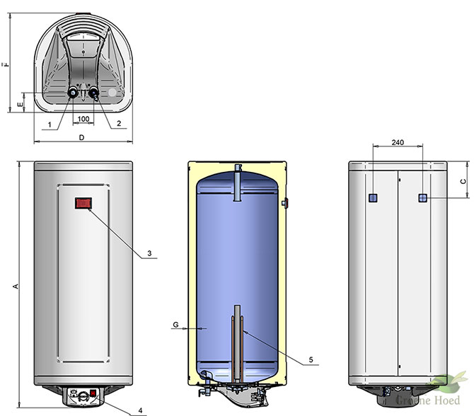 50 liter energiezuinige boiler