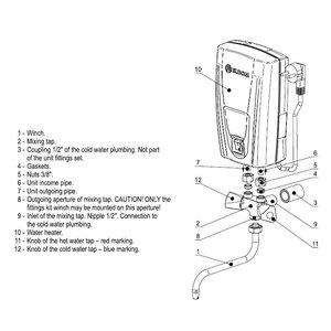 ELDOM Favourite Doorstroomverwarmer met mengkraan 3,5 kW