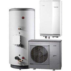 Nibe Energiesystemen Systeem 3 lucht/water warmtepomp, HBS 11-12 hydrobox met HEV 500 boiler en AMS 10-12 buitenunit
