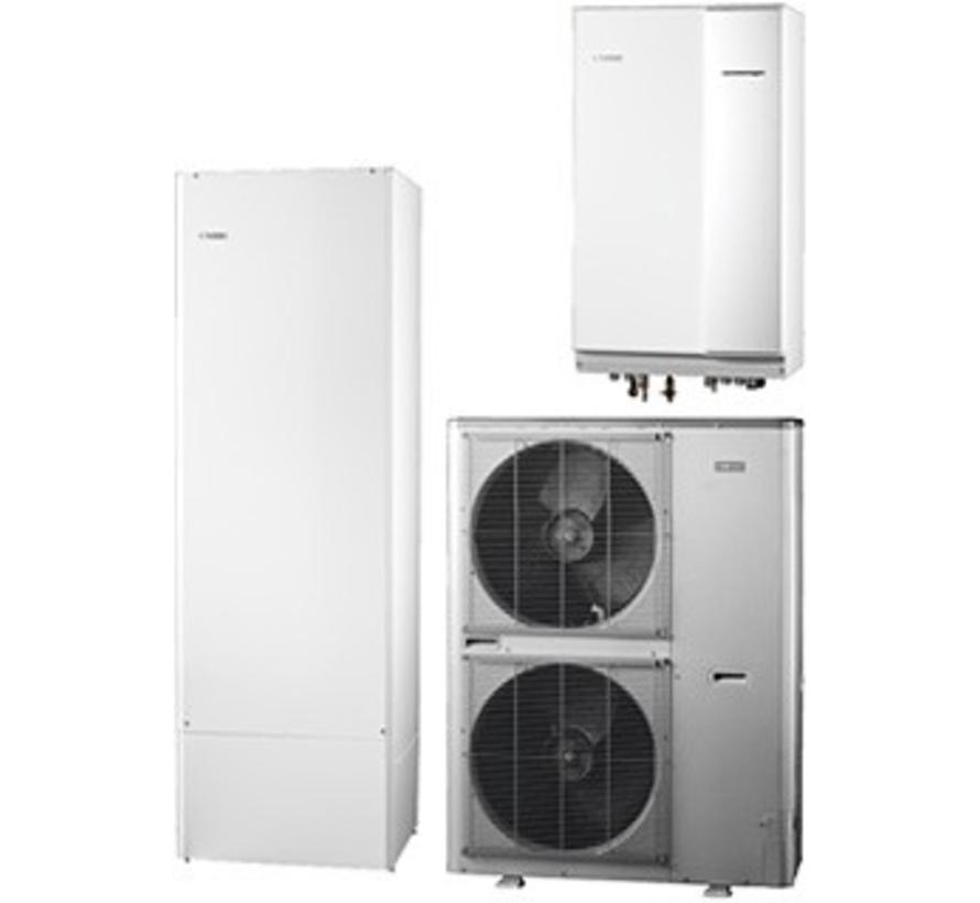 Systeem 4 lucht/water warmtepomp, HBS 11-16 hydrobox met HEV 300 boiler en AMS 10-16 buitenunit