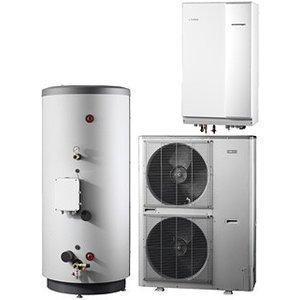 Nibe Energiesystemen Systeem 5 lucht/water warmtepomp, HBS 11-16 hydrobox met HEV 500 boiler en AMS 10-16 buitenunit