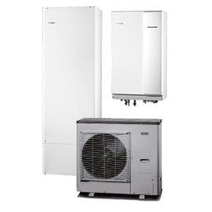 Nibe Energiesystemen Systeem 7 lucht/water warmtepomp, HBS 11-12 hydrobox met HEV 300 boiler en AMS 10-12 buitenunit