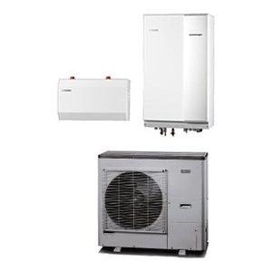 Nibe Energiesystemen Systeem 8 lucht/water warmtepomp, HBS 11-12 hydrobox met HE 30 verwarmingselement en AMS 10-12 buitenunit