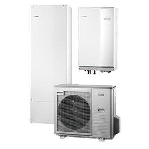 Nibe Energiesystemen Systeem 9 lucht/water warmtepomp, HBS 11-12 met HEV 300 boiler en AMS 10-8 buitenunit