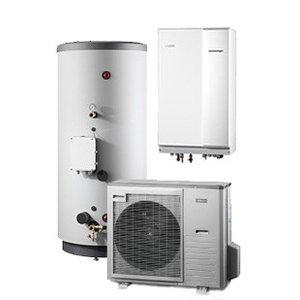 Nibe Energiesystemen Systeem 10 lucht/water warmtepomp, HBS 11-12 met HEV 500 en AMS 10-8 buitenunit