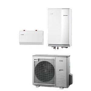Nibe Energiesystemen Systeem 11 lucht/water warmtepomp, HBS 11-12 met HE 30 verwarmingselement en AMS 10-8 buitenunit