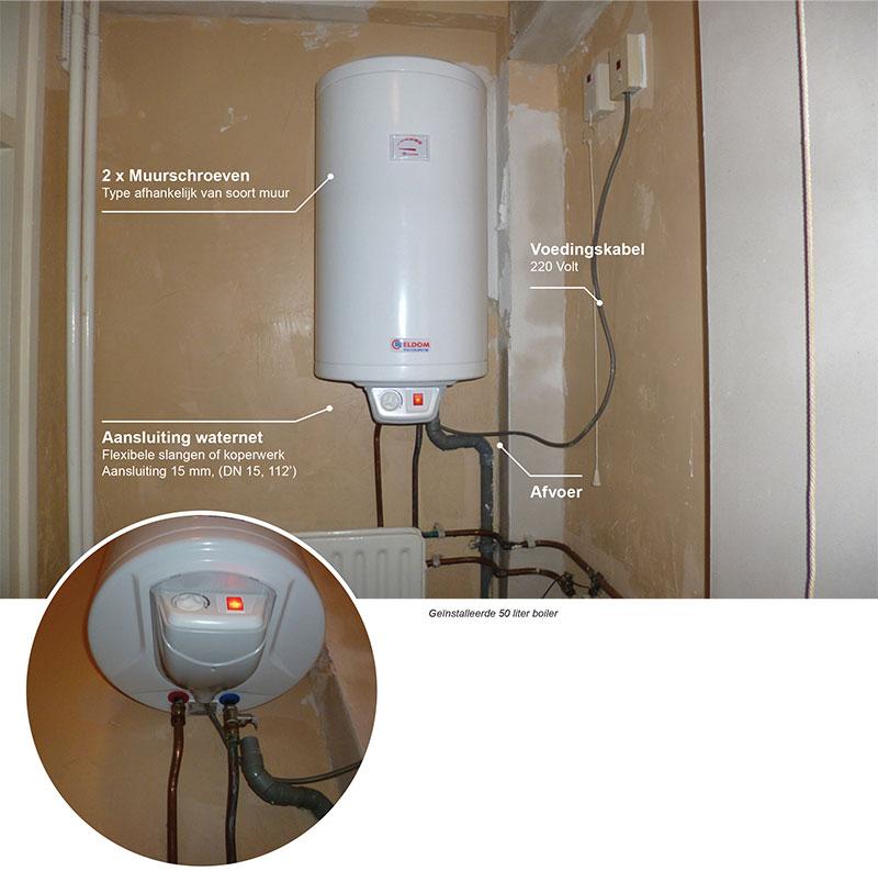 wat is nodig voor de installatie van de elektrische boiler