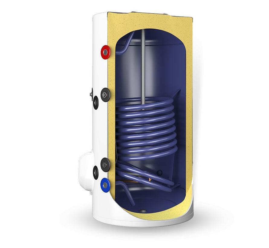 Staande 200 liter boiler met  warmtewisselaar en digitale bediening