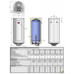 ELDOM Extra Life Verticale elektrische boiler 30L, Extra Life, 1.5 kW, emaill