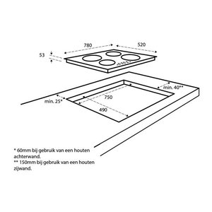 Inventum IKI7821 Inductiekookplaat