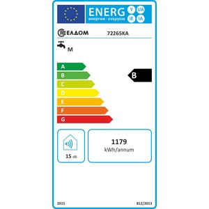ELDOM Extra Life Verticale elektrische boiler 80L, Extra Life, 2kW, emaille, breed model