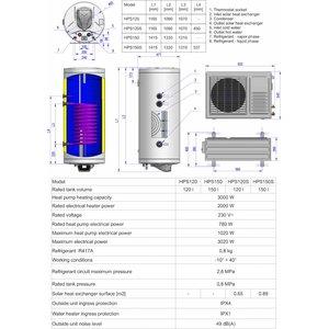 ELDOM Green Line Lucht-water Warmtepomp 120 liter, voor tapwater