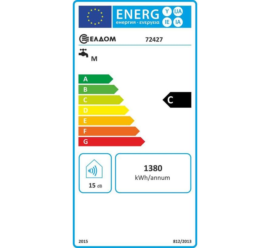 Horizontale elektrische boiler 80L, energiezuinige Extra Life, 3,2 kW, emaille