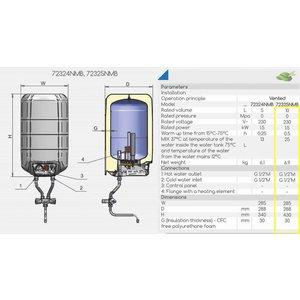 ELDOM Extra Life 15 liter boiler met mengkraan