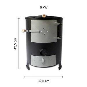 Compacte terrashaard, 5 kW met optioneel bbq rooster