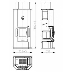 Skladova Tehnika Diplomat 11 CV Houtkachel (14 kW)