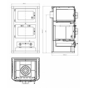 Skladova Tehnika Komfort 21 KFT, Houtkachel met oven (10 kW)