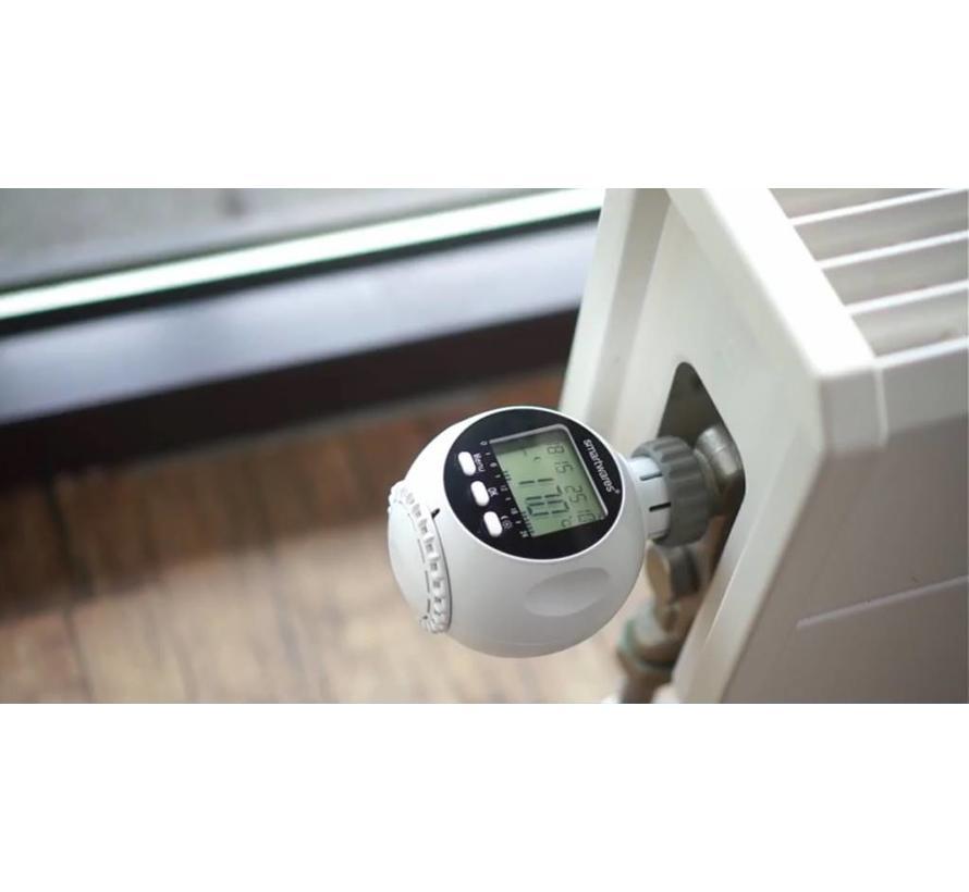 Smarthome draadloze radiatorknoppen (2 stuks) plus afstandsbediening