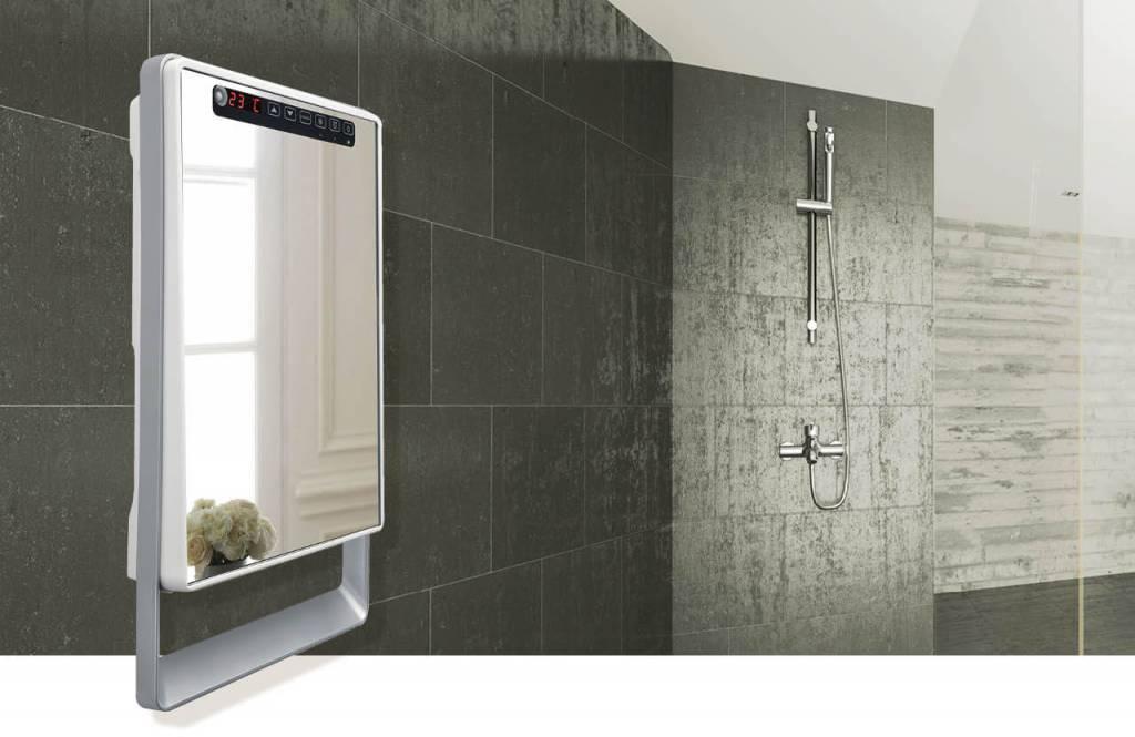 Verwarming In Badkamer : Aurora touch wit badkamerverwarming verkrijgbaar bij de groene