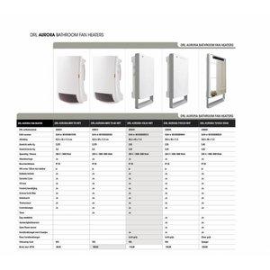 DRL products Aurora Folio Wit Badkamerverwarming