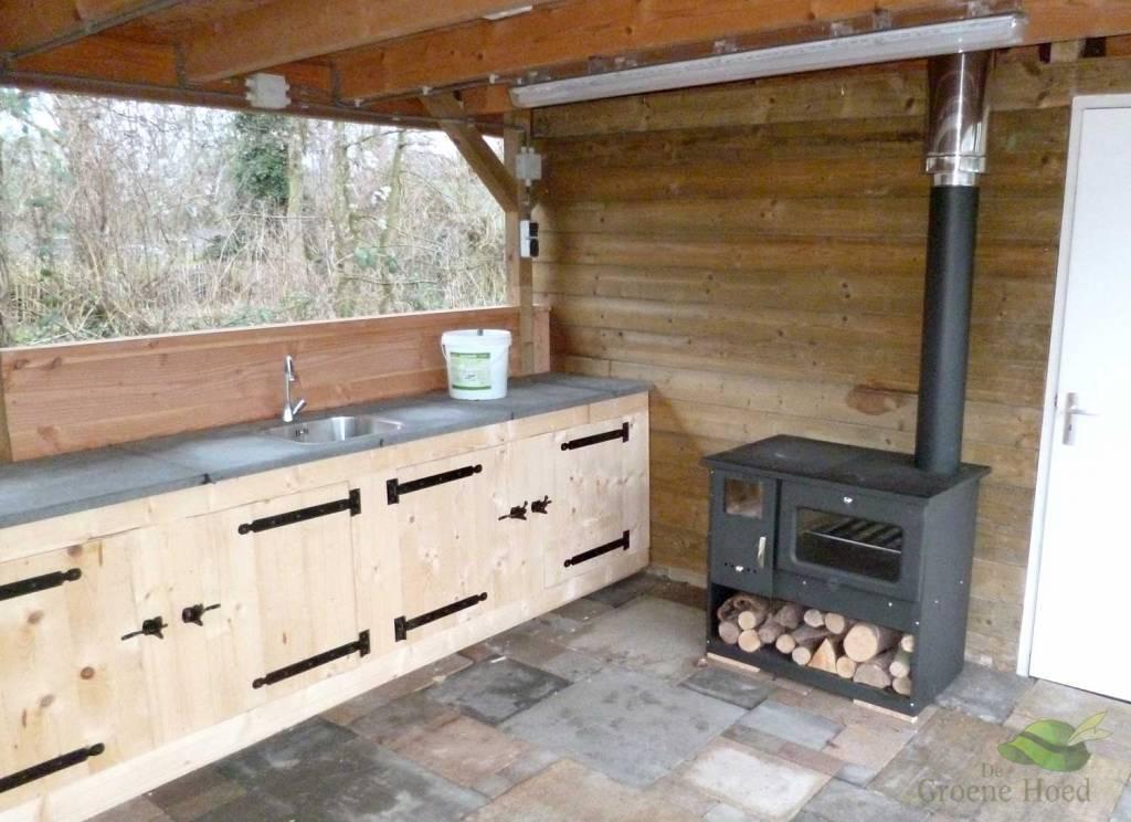 Favoriete Metalurguia houtkachel met oven en fornuis (9 kW) - De Groene Hoed  #NF69